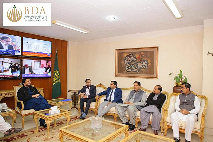 BDA delegation meets Minister of State for Interior, Shehryar Afridi