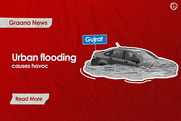 Urban flooding due to inadequate drainage system causes havoc in Gujrat