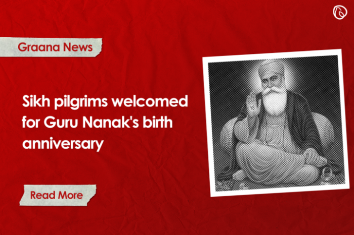 Sikh pilgrims welcomed for Guru Nanak's birth anniversary