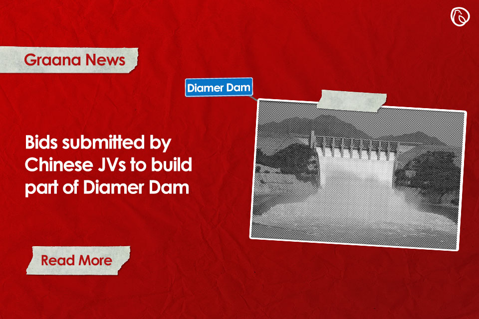 Bids submitted by Chinese JVs to build part of Diamer Dam