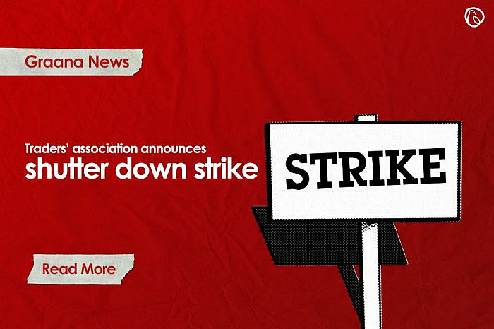 Traders' association announces shutter down strike