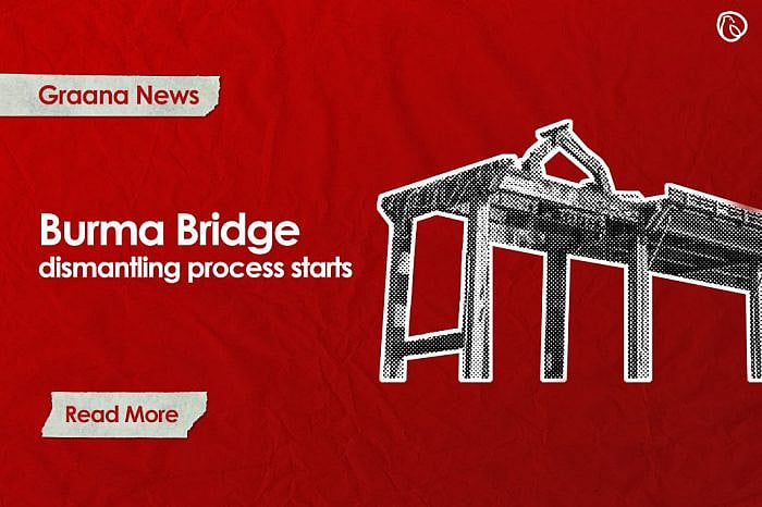 Burma Bridge dismantling process starts