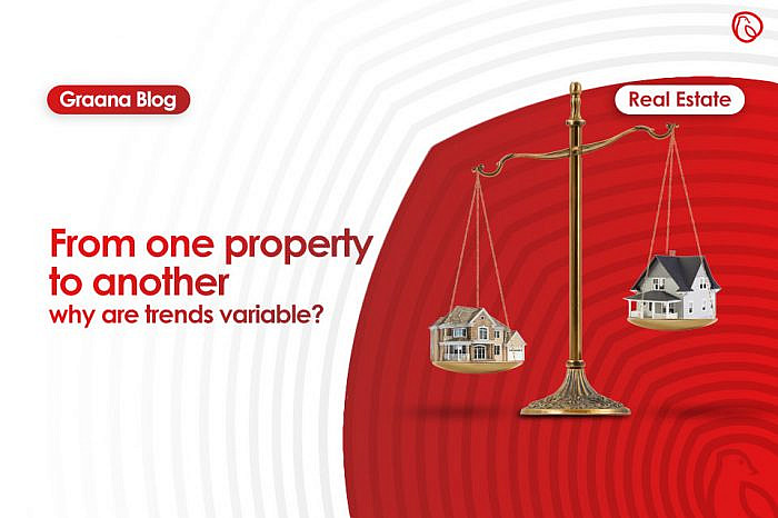 From one property to another- why are trends variable?