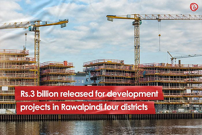 Rs3bn released for development projects in Rawalpindi's four districts
