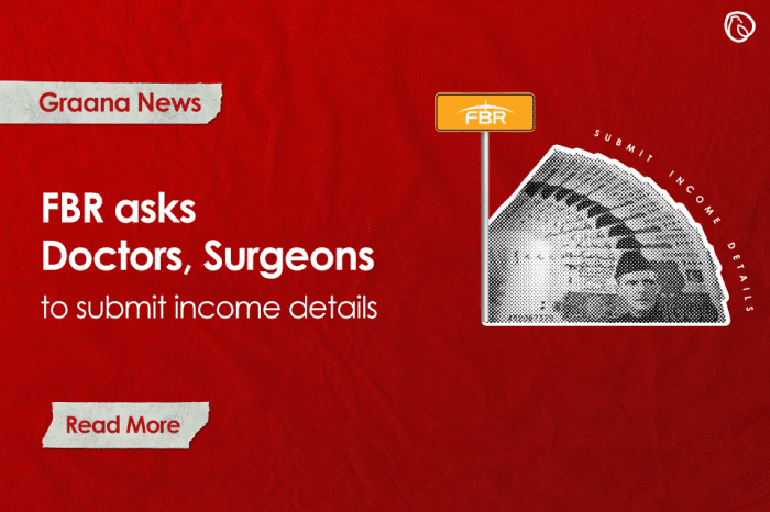 FBR asks doctors, surgeons to submit income details