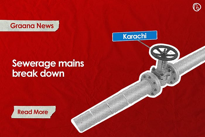 Sewerage mains break down in Karachi