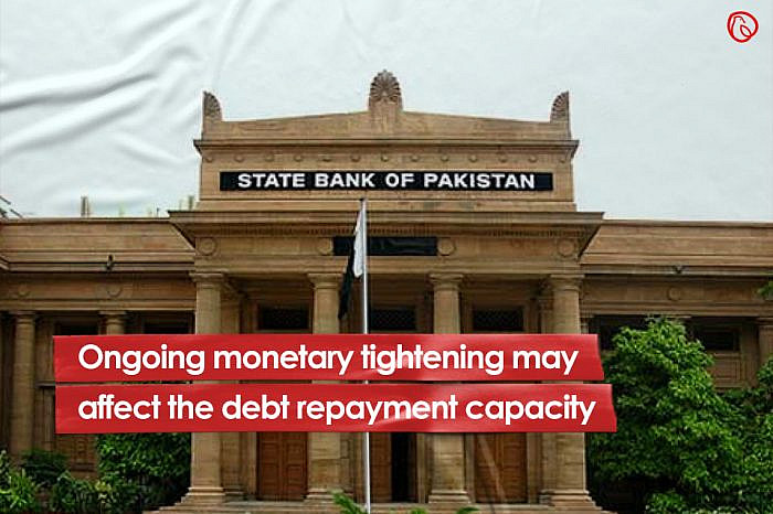 Ongoing monetary tightening may affect the debt repayment capacity