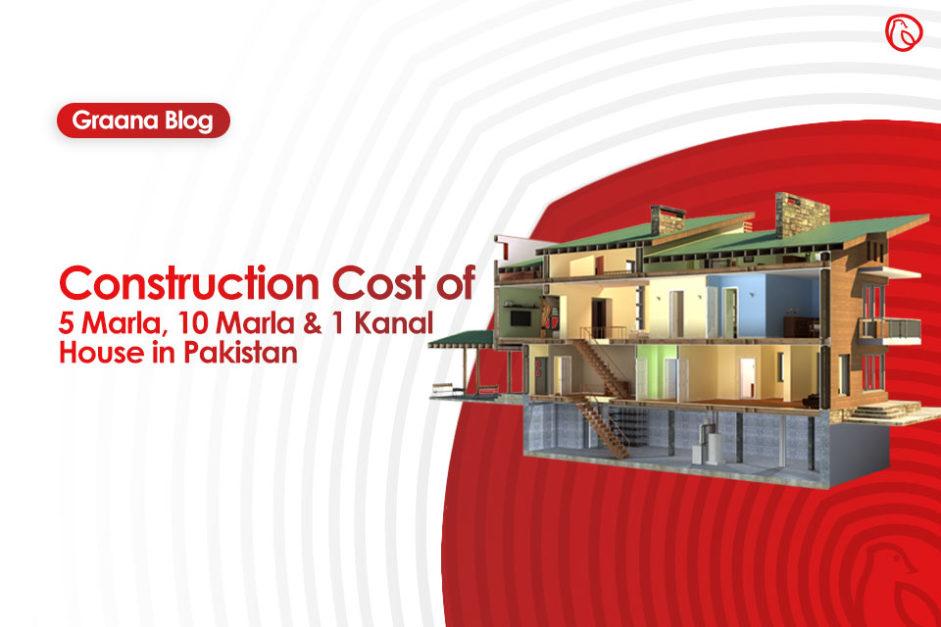 Cost To Construct 5 Marla 10 Marla 1 Kanal House In Pakistan Graana Com Blog