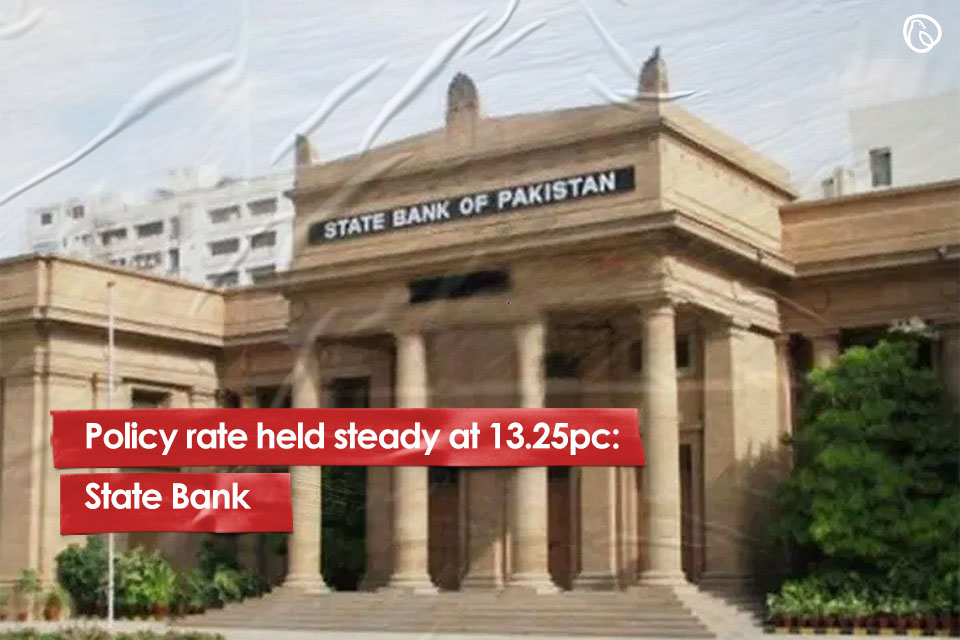 Policy rate held steady at 13.25pc: State Bank