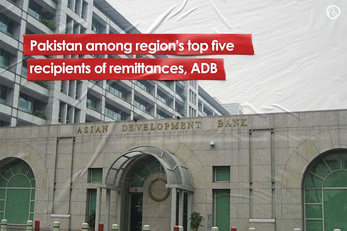 Pakistan among region's top five recipients of remittances, ADB