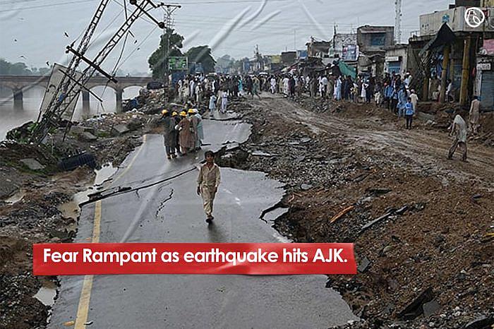 Fear rampant as earthquake hits AJK
