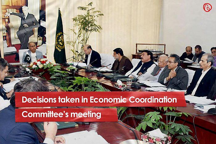 Decisions taken in Economic Coordination Committee's meeting