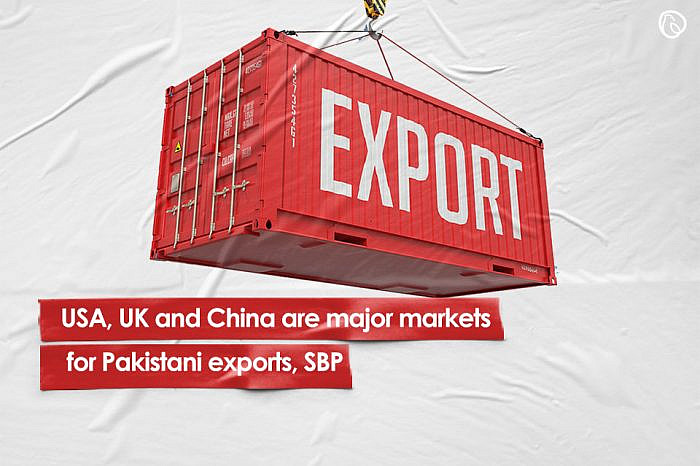 USA, UK and China major markets for Pakistani exports, SBP