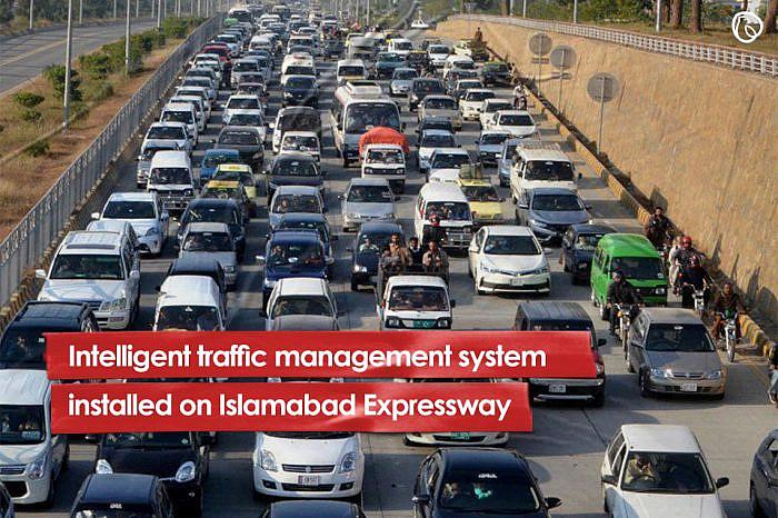 Intelligent traffic management system installed on Islamabad Expressway