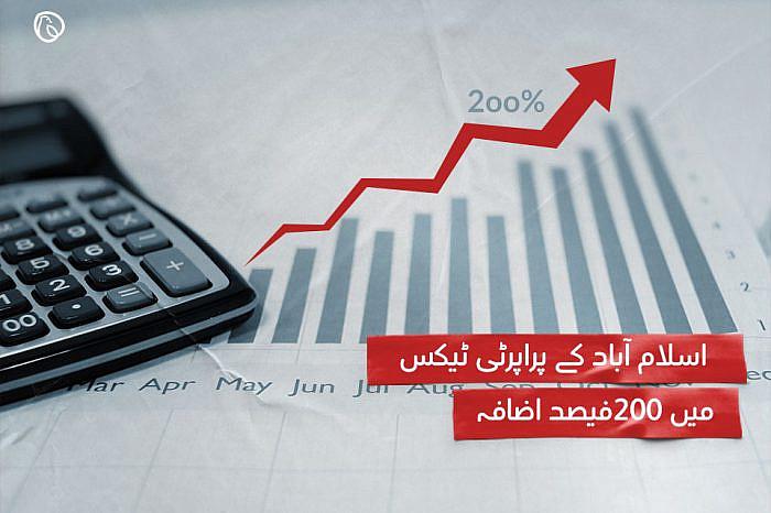 اسلام آباد کے پراپرٹی ٹیکس میں 200فیصد اضافہ