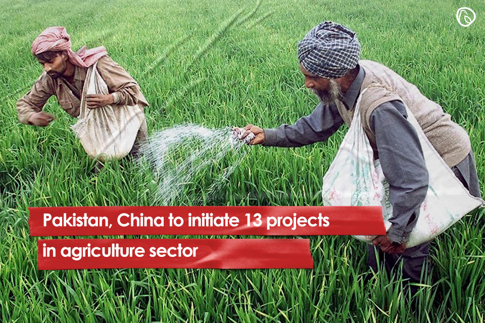 Pakistan, China to initiate 13 projects in agriculture sector