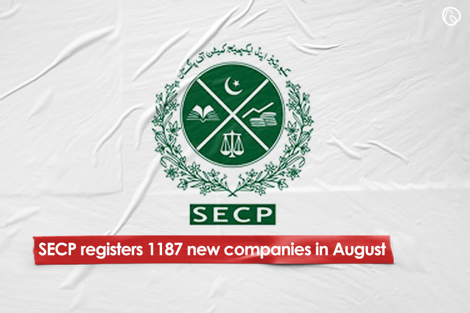 SECP registers 1187 new companies in August