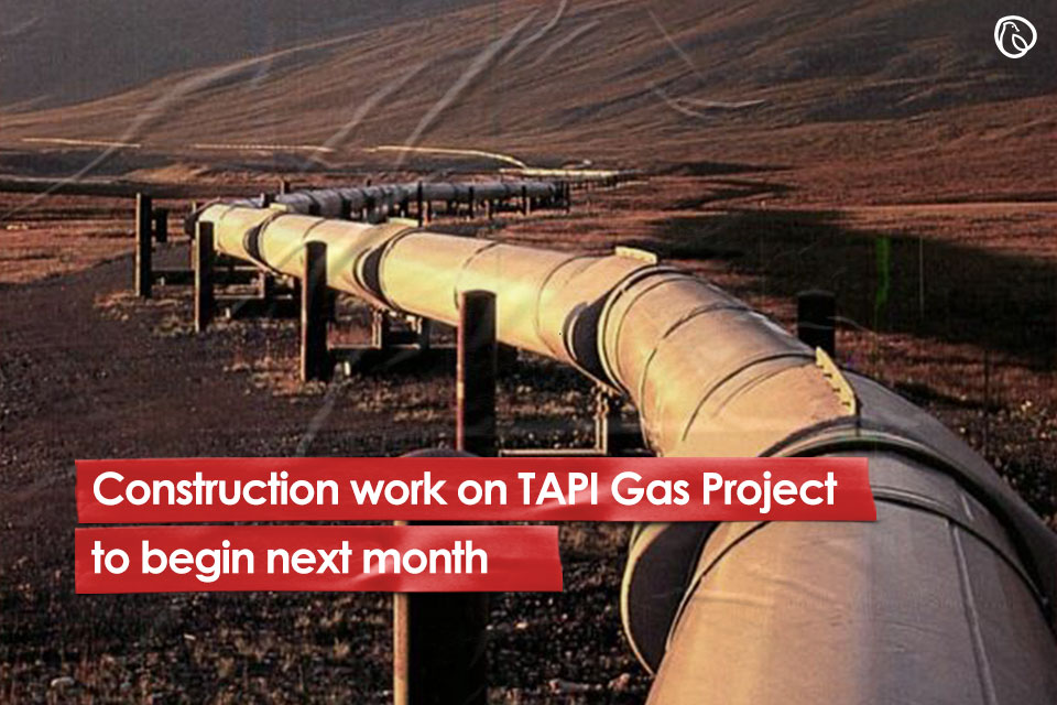 TAPI gas pipleline project expected to start next month in pakistan