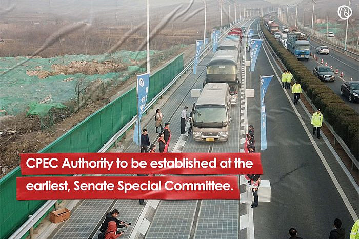 CPEC Authority to be established at the earliest, Senate Special Committee