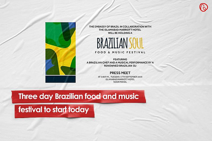 Three-day Brazilian food and music festival to start today