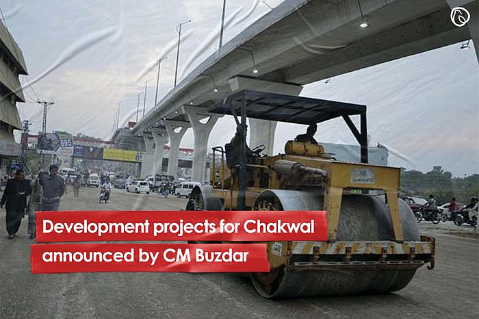 Development projects for Chakwal announced by CM Buzdar