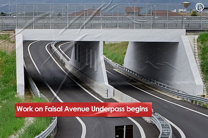 Work on Faisal Avenue Underpass begins