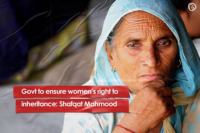 Govt to ensure women's right to inheritance: Shafqat Mahmood