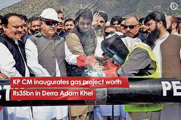 KP CM inaugurates gas project worth Rs35bn in Derra Adam Khel