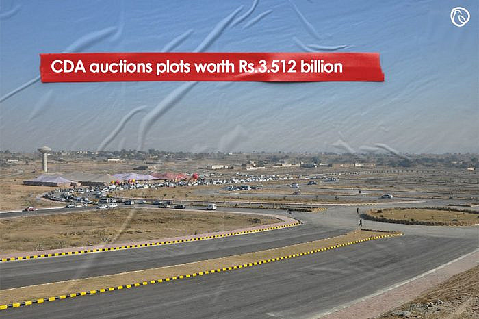 CDA auctions plots worth Rs3.512 billion