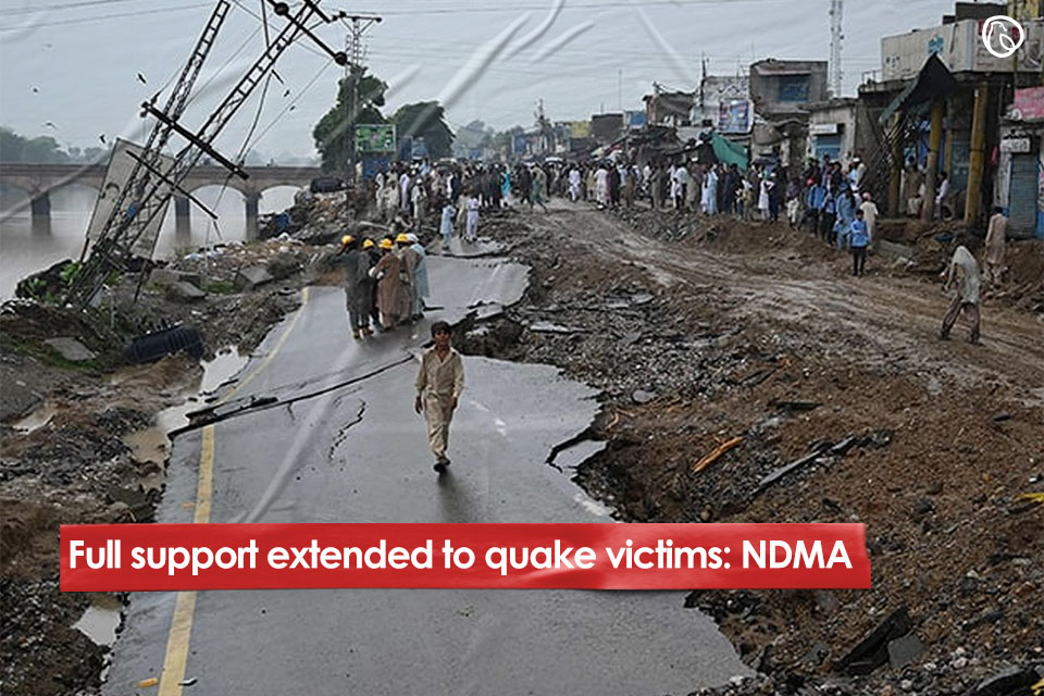 Full support extended to quake victims: NDMA