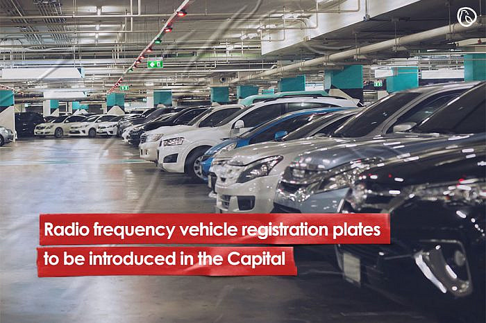 Radio frequency vehicle registration plates to be introduced in the Capital