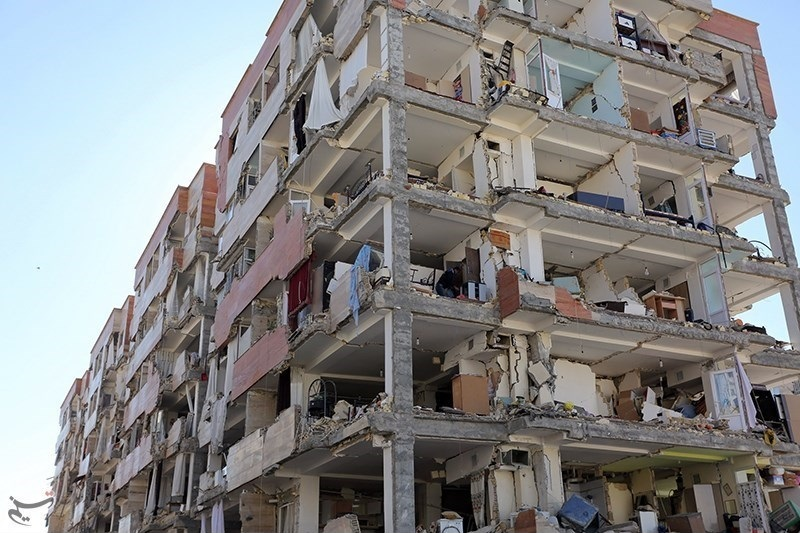 Earthquake damages a structure in Iraq