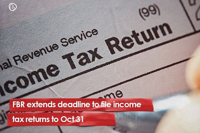 FBR extends deadline to file income tax returns to Oct 31