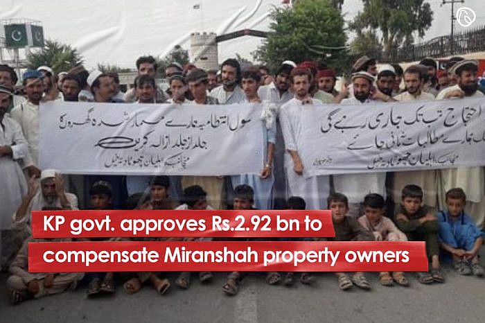 KP govt. approves Rs.2.92 bn to compensate Miranshah property owners