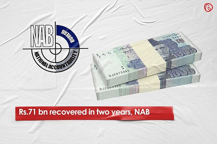 Rs71 bn recovered in two years, NAB