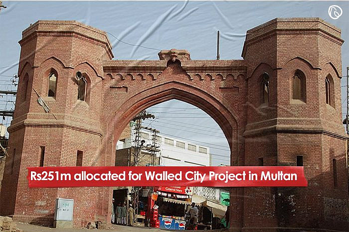 Rs251m allocated for Walled City Project in Multan