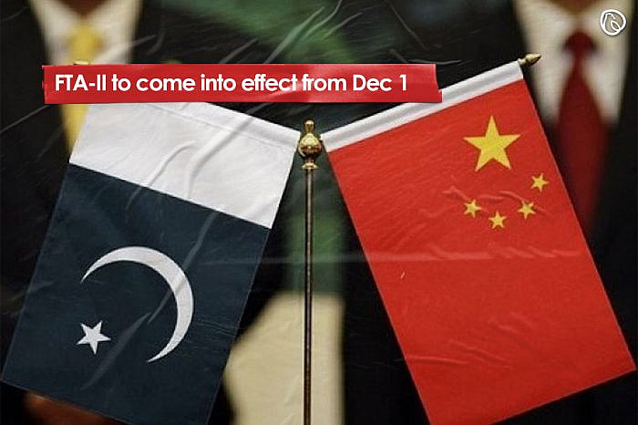 FTA-II to come into effect from Dec 1