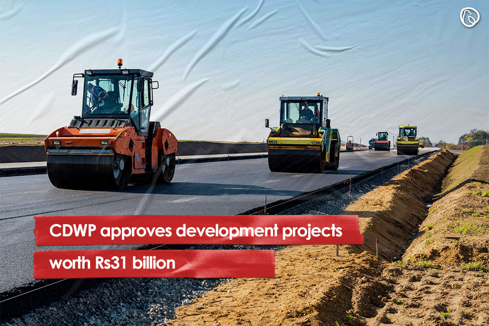 CDWP has approved eight projects worth Rs31.6 billion and has recommended five projects worth Rs195.1 billion to ECNEC for approval.