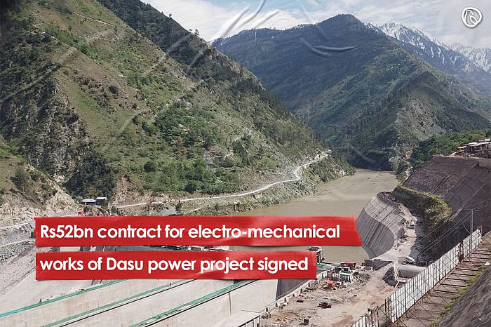 Rs52bn contract for electro-mechanical works of Dasu power project signed
