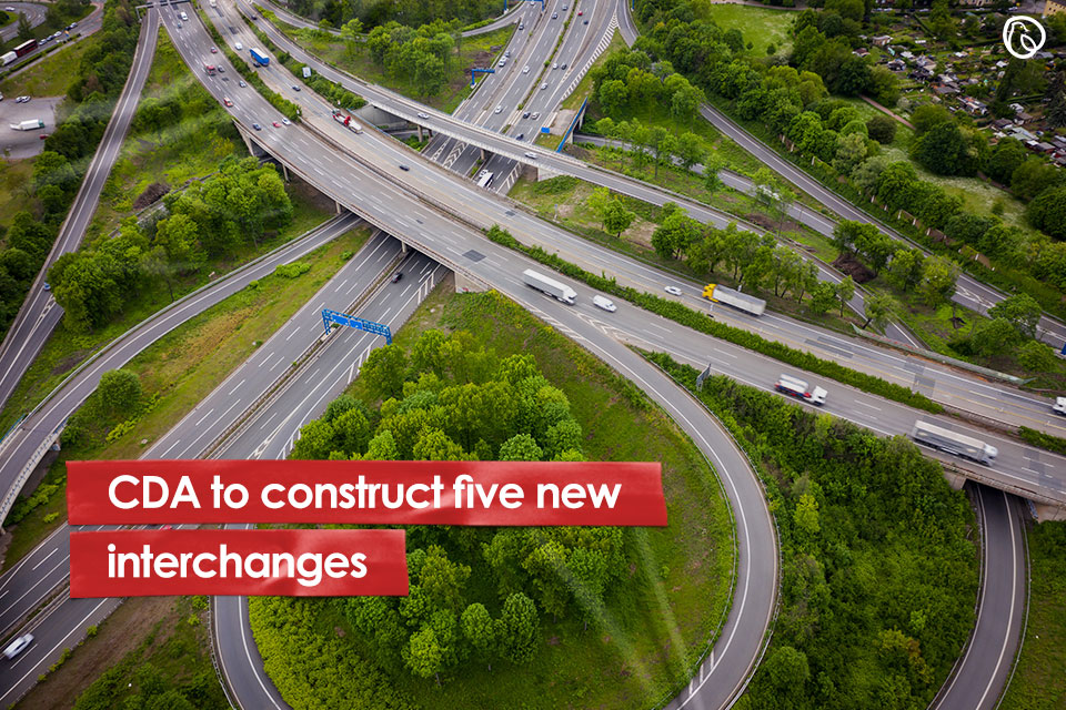 CDA to construct five new interchanges