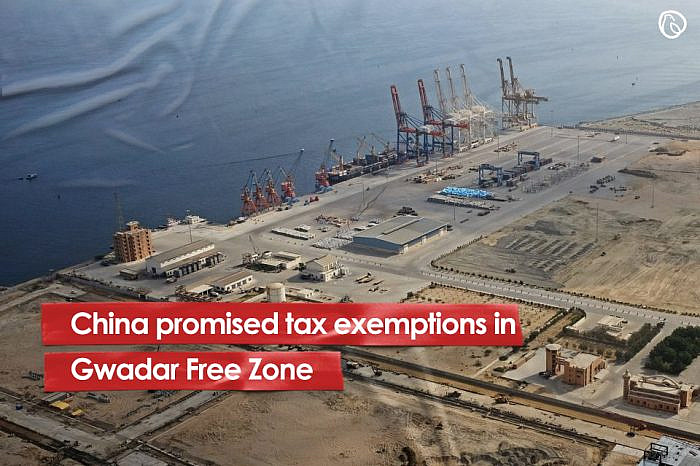 China promised tax exemptions in Gwadar Free Zone