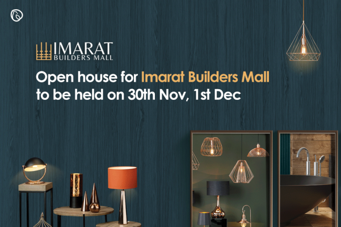 Open house for Imarat Builders Mall to be held on 30th Nov, 1st Dec