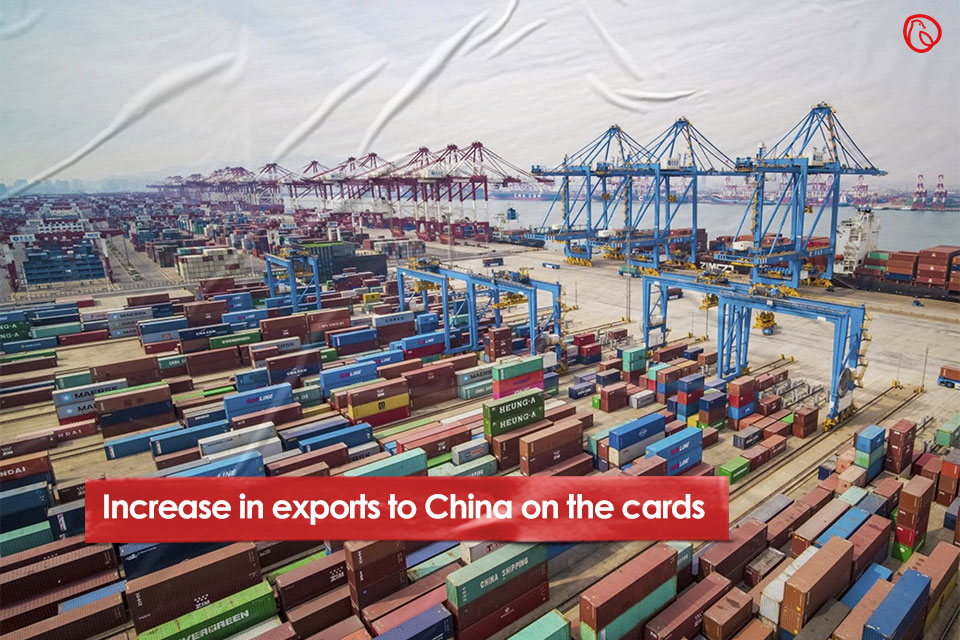 Increase in exports to China on the cards