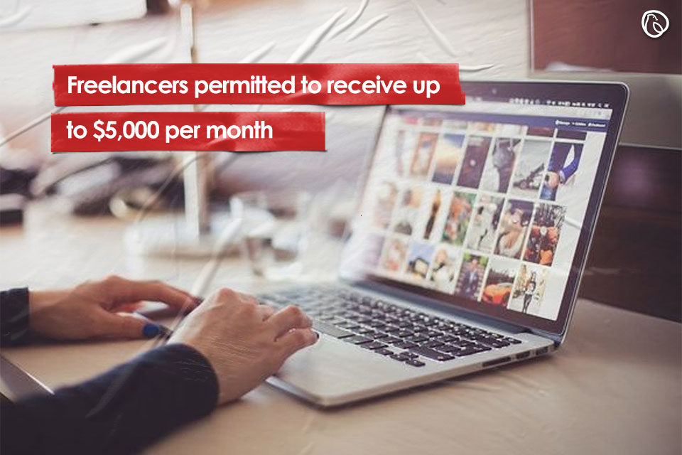 Freelancers permitted to receive up to $5,000 per month