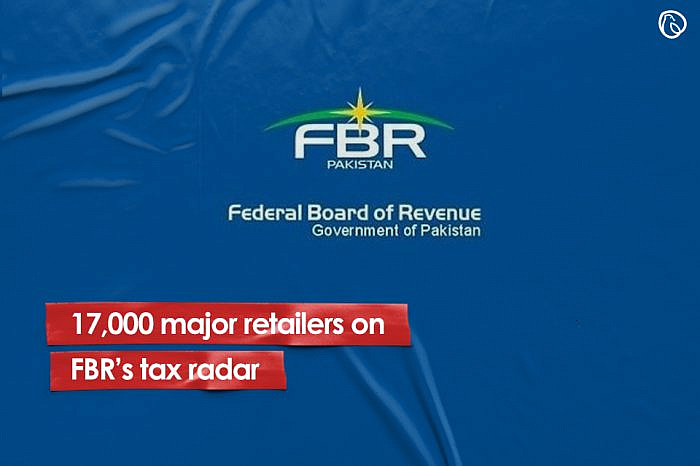17,000 major retailers on FBR's tax radar