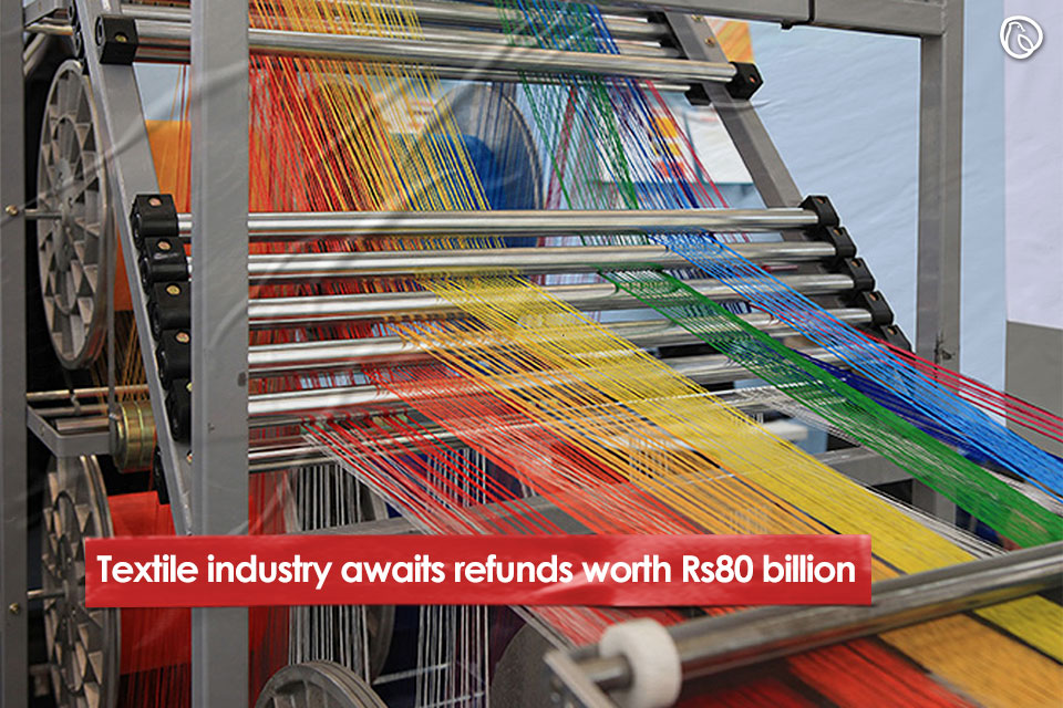 Textile industry awaits refunds worth Rs80 billion