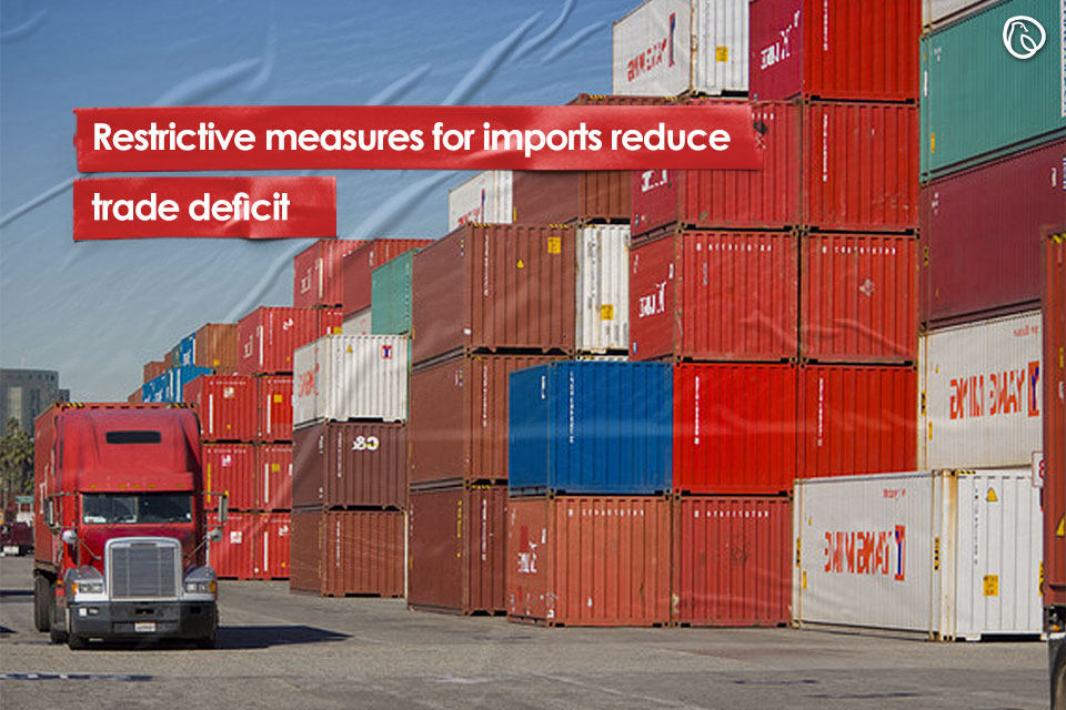 Restrictive measures for imports reduce trade deficit