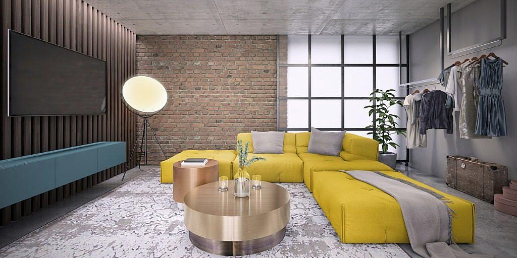 studio flat design