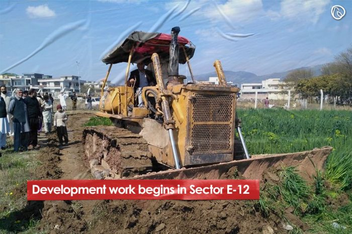 Development work begins in Sector E-12