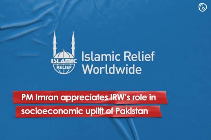 PM Imran appreciates IRW's role in socioeconomic uplift of Pakistan